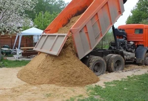 Песок гравий щебень земля 4