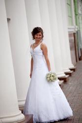 Продам свадебное платье,  белоснежное